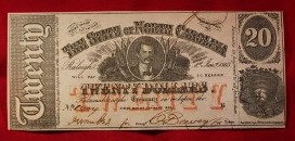 Antique American money from the Civil War era in Brentwood, TN